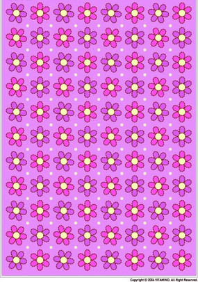 粉紫色背景上六瓣花四方連續圖案