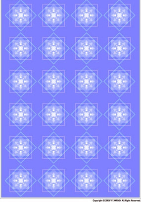 蓝色调几何四方连续图案