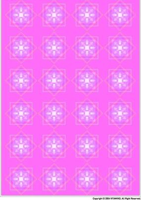 洋红色调几何四方连续图案