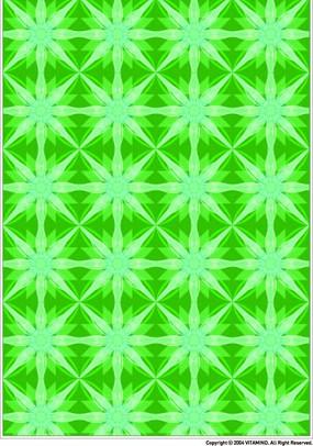 绿色调几何四方连续图案