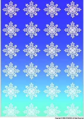 米字型白色雪花构成的图案