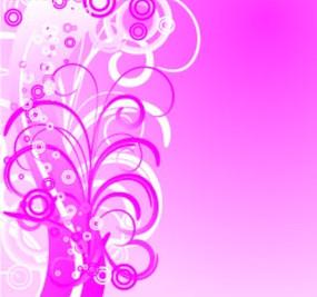粉色花纹图案背景