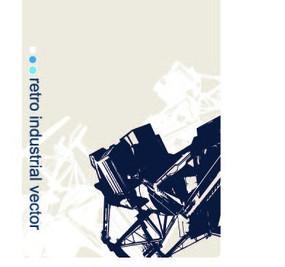 米淺色上黑白機械幾何圖案