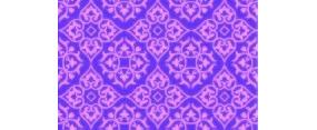 紫色背景上的四方连续图案花