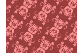 棕红色背景上的四方连续图案花