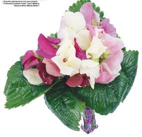 美丽的蝴蝶兰花束PSD素材