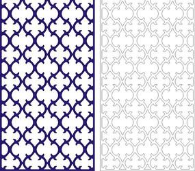 宝蓝色中式四方连续图案镂空花纹