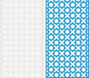 天蓝色调四方连续图案窗格设计模板