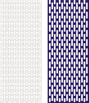 宝蓝色四方连续图案窗格镂空花纹