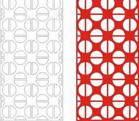紅色中式四方連續圖案窗格鏤空花紋