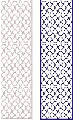 寶藍色四方連續圖案窗格鏤空花紋