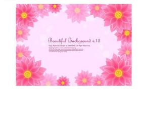 粉色调背景上的大丽花矢量素材