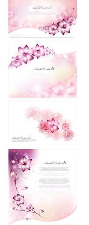 粉色浪漫花朵背景