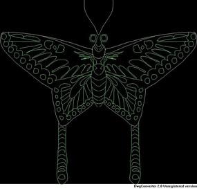 蝴蝶CAD图032