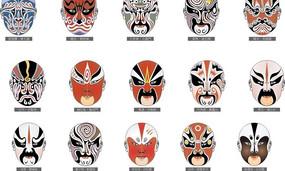京剧各种脸谱