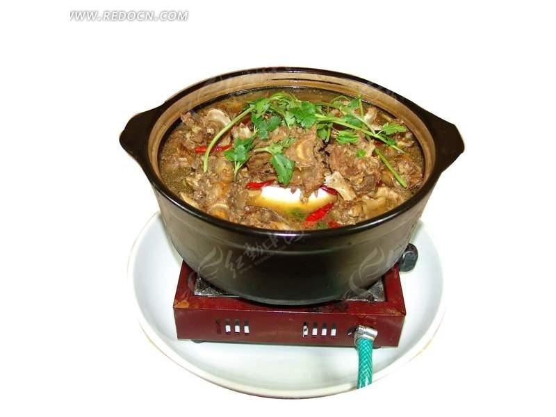 瓦煲里的火锅psd分层素材图片