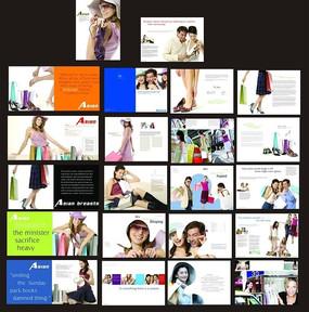 清新风格的女性鞋子画册排版设计