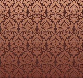 棕色背景上的四方連續圖案花