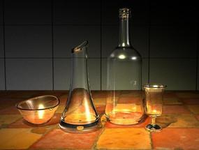 3D玻璃器具模型