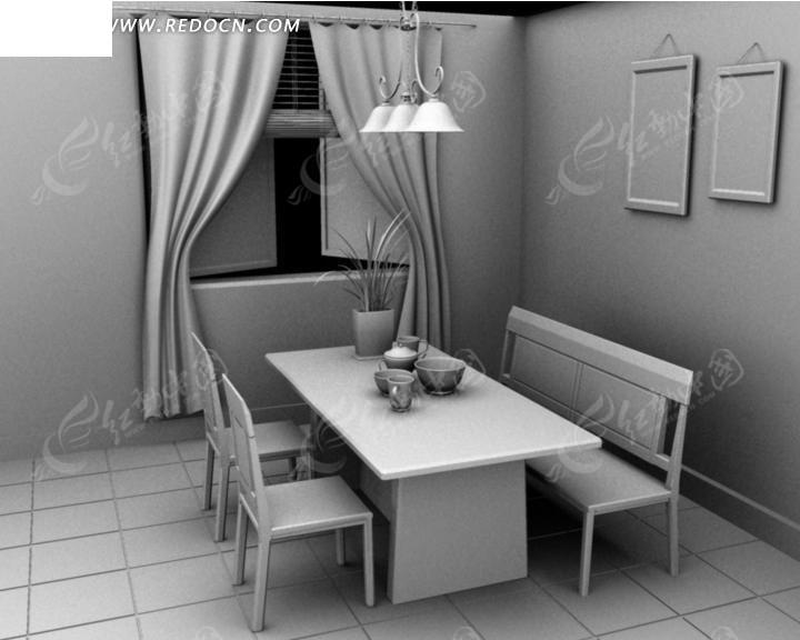 Maya室内设计模型图片