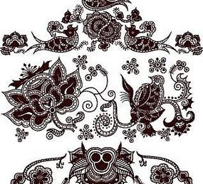 中國傳統圖案樣式模板