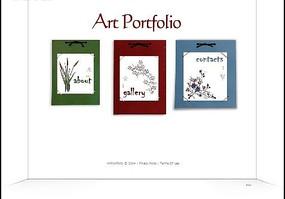 艺术相册集网页模板