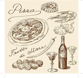矢量食物手绘稿