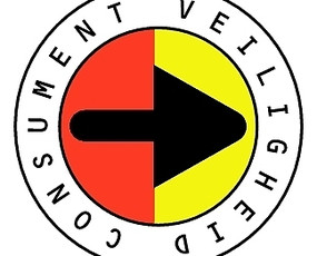 Consumentenveiligheid双色底黑色箭头圆标EPS矢量文件