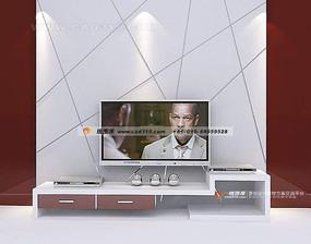 现代风格无规则分割电视背景墙