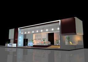 現代風格3D大型展廳設計效果圖