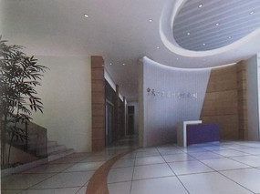 公司前台 背景墙 接待区域MAX模型素材