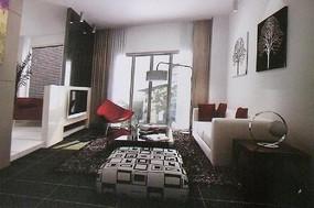 客厅装修3D模型图