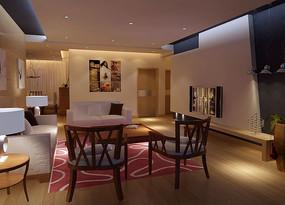 精装修客厅3D效果图