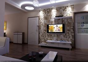豪华主流客厅室内装饰效果图