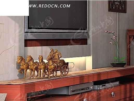 电视背景墙3D效果图图片