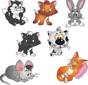 可爱的小动物卡通画
