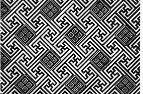 中國古典圖案-線條構成的幾何圖案