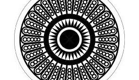 圆形和太阳形构成的圆形图案