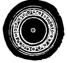 中国古典图案-圆形和圆点构成的圆形图案