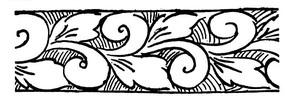 簡單的矢量花紋雕刻素材