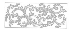中国古典图案-卷曲纹龙纹构成的图案