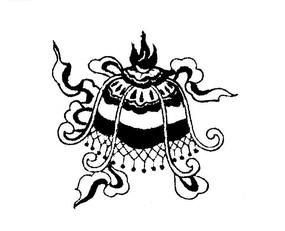傳統吉祥圖案八吉祥(八寶)中的白蓋