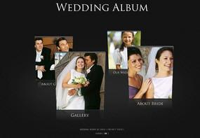 欧美婚纱相册网页模板PSD素材