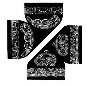 中國古典圖案-曲線和幾何形構成的黑白古典圖案