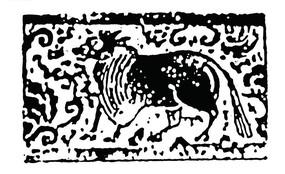 复古牛图案花纹素材