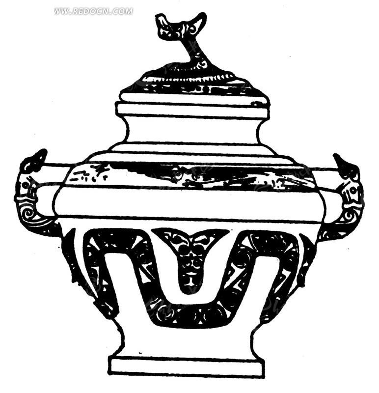 古代青铜器香炉