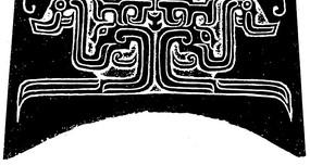 中国古典图案-卷曲纹龙纹和线条构成的图案