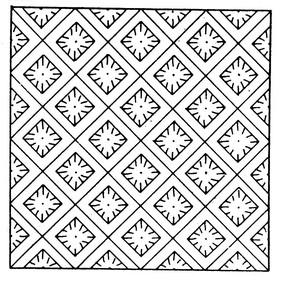 古代黑白幾何圖案矢量素材