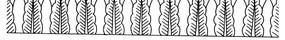 艾葉紋交疊構成的橫圖花邊矢量圖