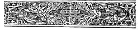 蝙蝠纹卷云纹几何纹构成的雕纹横图图案